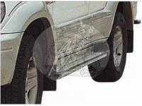 Подножки TOYOTA LAND CRUISER PRADO 90 (1995-2002) алюминиевый профиль 042 FJ90-C005