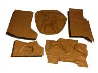Обивка кабины УАЗ 452, Буханка (ватин, без поролона) коричневая охра, 8 предметов