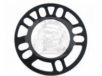 Проставка под литье пластина 4-114,3мм/4-100мм/5-114,3мм/5-100мм - h4mm (1шт) черная TRV-3